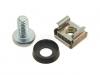 Zestaw montażowy M6: śruba, podkładka i nakrętka koszykowa